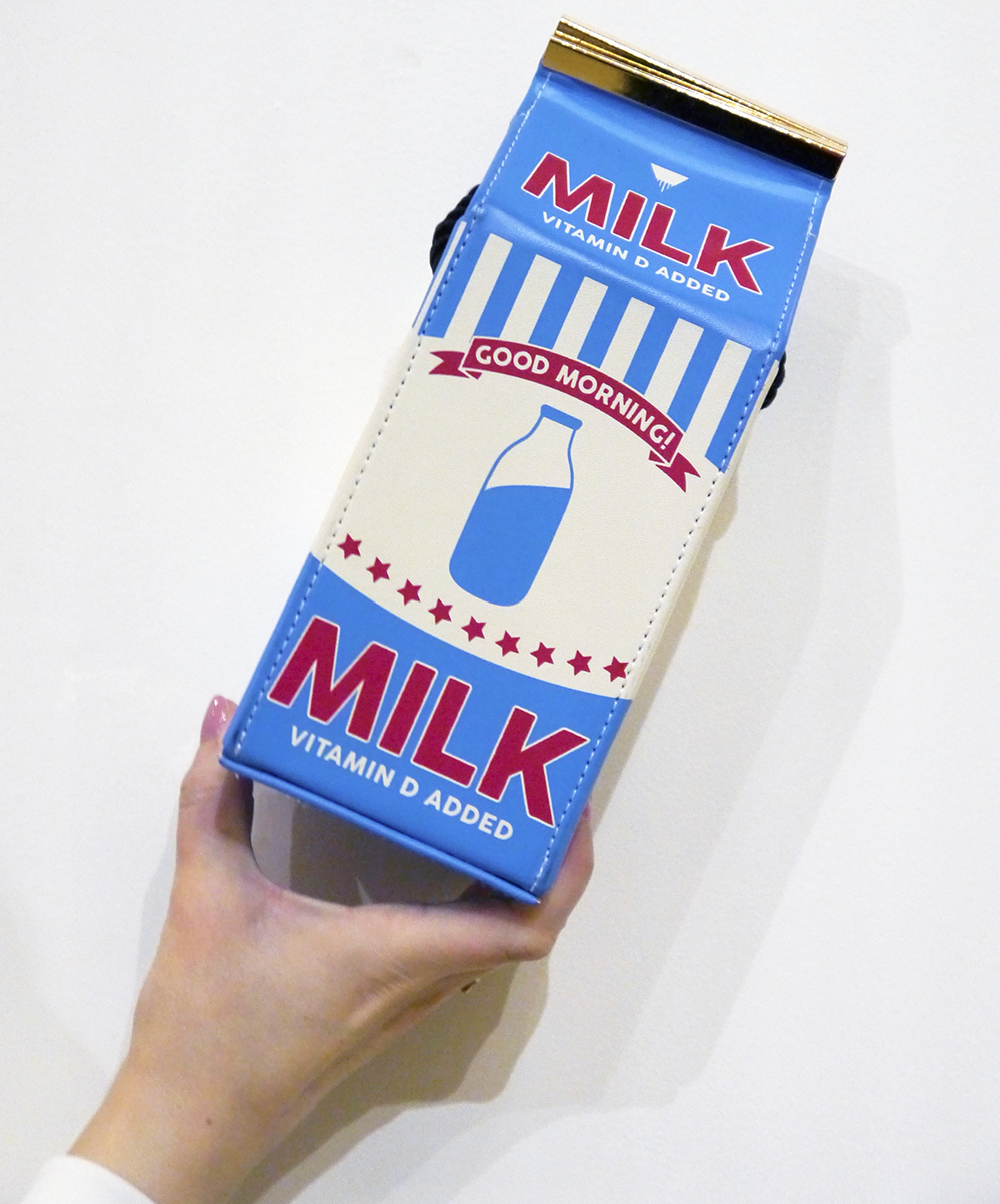 Skinny Dip novelty bag, milk carton bag, best novelty handbag