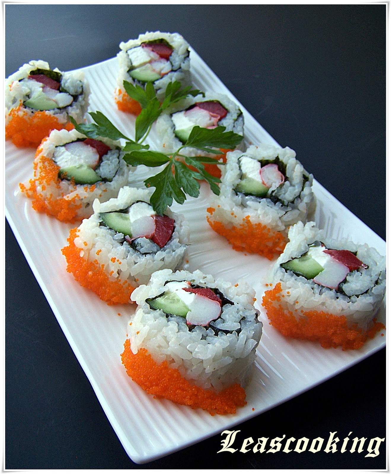 how to make crab and cream cheese sushi