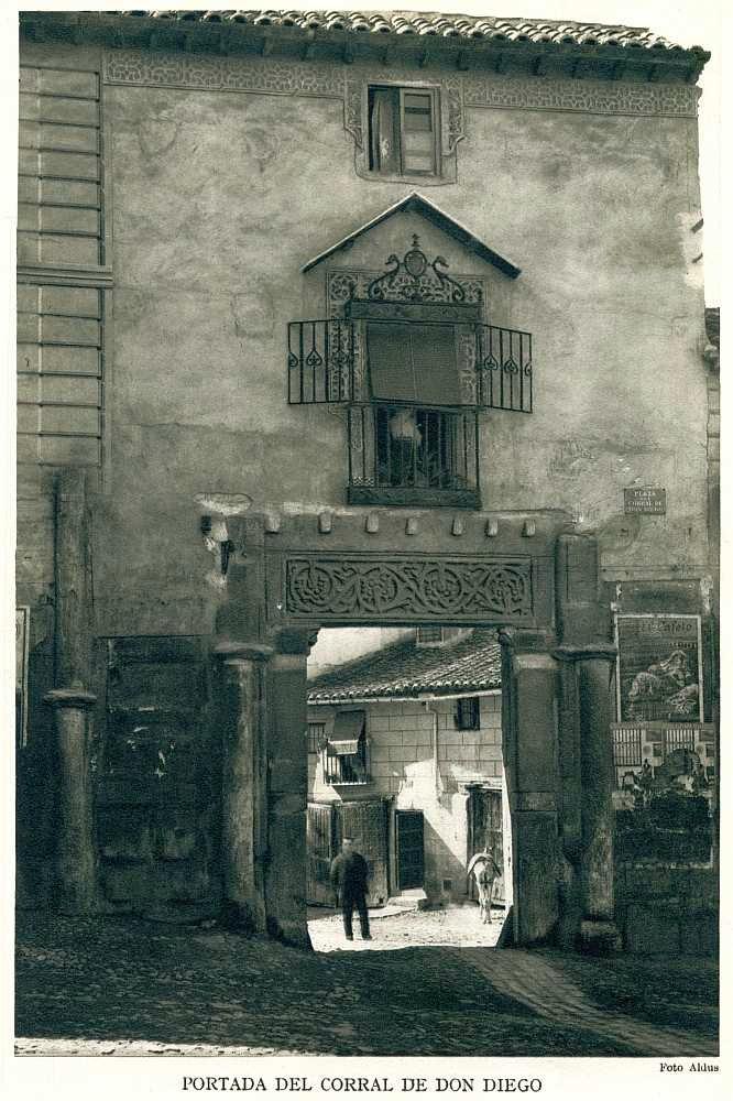 Portada del Corral de don Diego hacia 1930