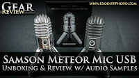Samson Meteor Mic USB Studio Microphone, Unboxing & Review With Audio Samples | Gear Review