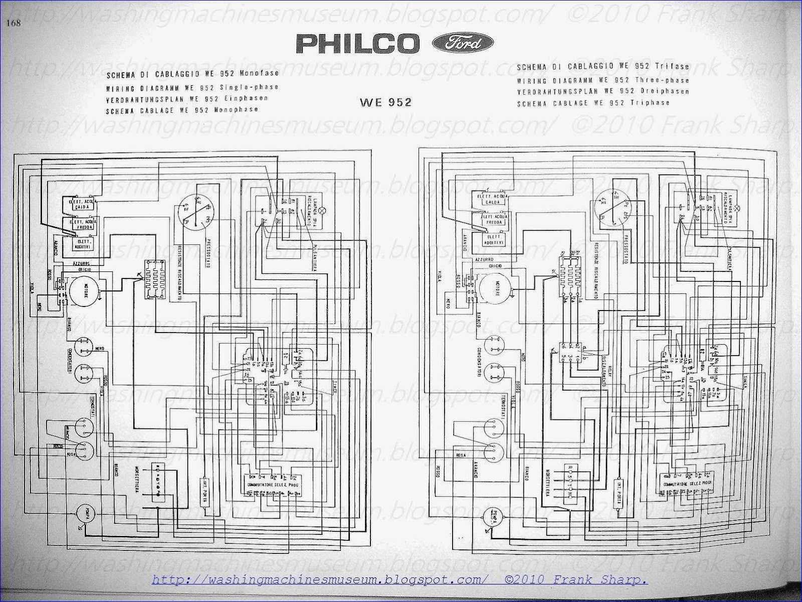 Washer Rama Museum   Philco Ford Mod  We952 Schematic Diagram