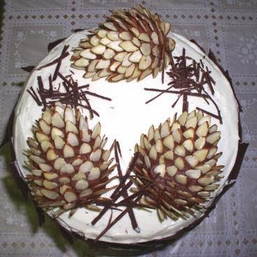 Кедровые шишки для украшения торта
