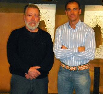Con J. Mª de Vicente en la Academia del CNP