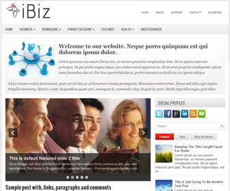 iBiz 2 Column Blogger Template