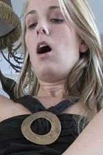 Always horny Sara James uses a rabbit vibrator on her wet pussy making her moan with excitement on video! - Devine One's