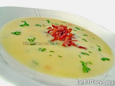 Supa crema de cartofi cu afumatura reteta