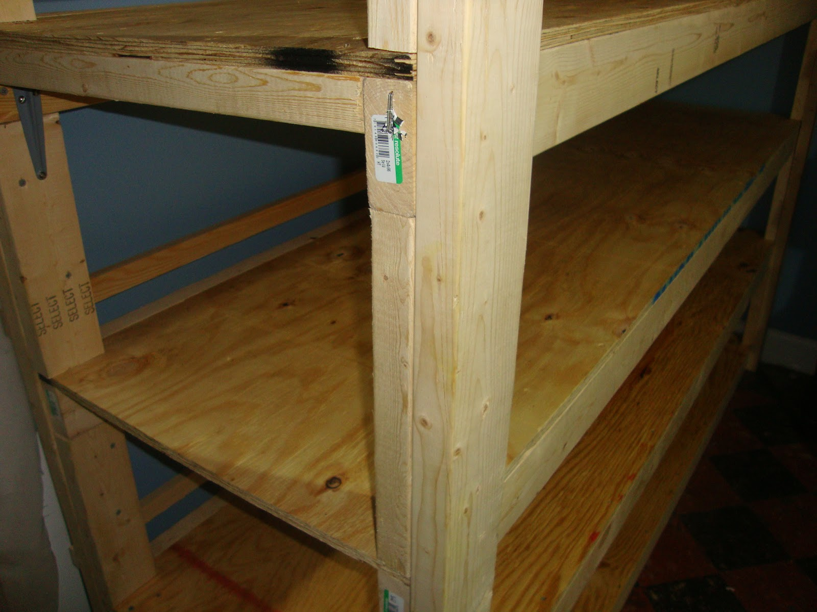 Bob S Practical Prepping Build Wood Shelves For Your Food Storage