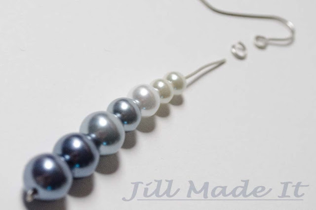 Fast, Easy, and Elegant Ombre Earrings Tutorial--Thread the Beads