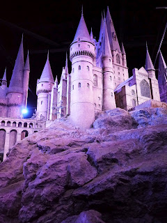 To scale model of Hogwarts Castle used for filming WB Harry Potter Studio Tour in London