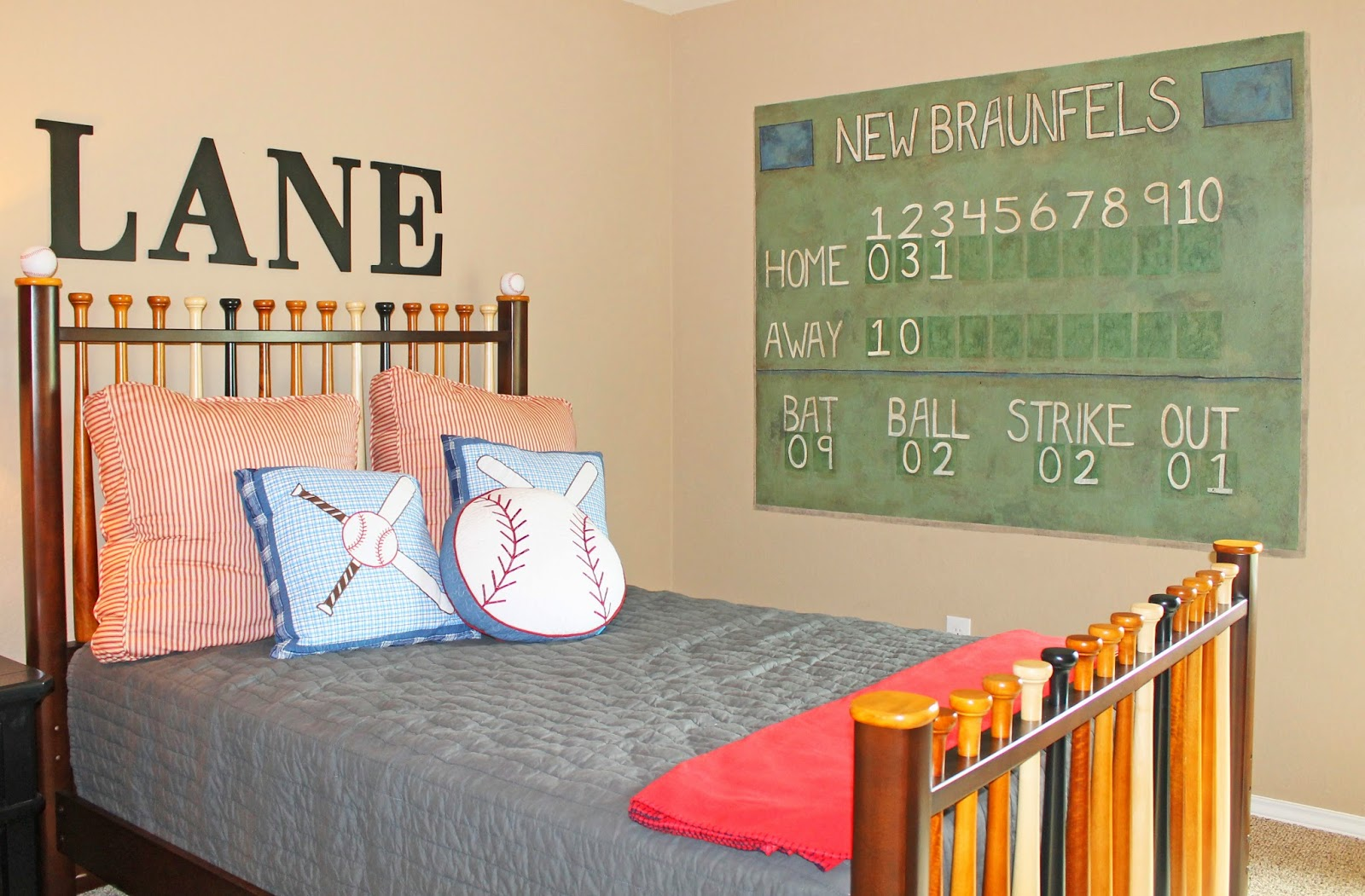 The Ragged Wren Baseball Boys Room
