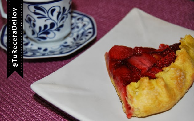 Galette de fresas - receta facil de postres y meriendas