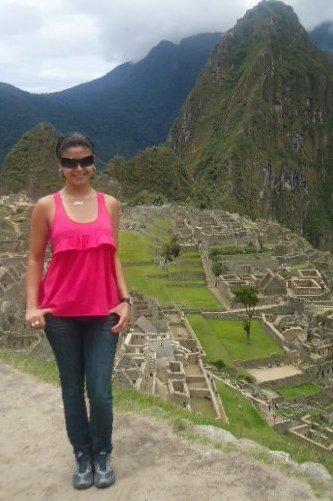 Melissa García en Machu Picchu