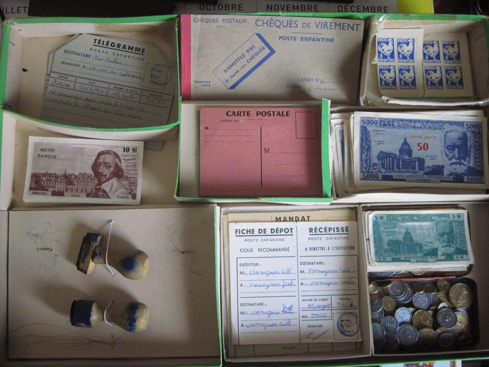 Collectionneur de timbres et de cartes postales boites de jeux la poste des - Collectionneur de boite ...