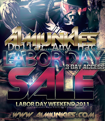 AIMJUNKIES LABOR DAY WEEKEND SALE - DOLLAR FOR ANY HACK