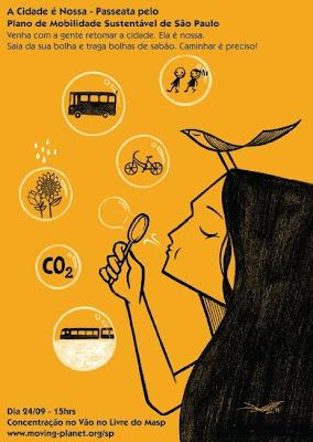 poster - passeata pelo Plano de Mobilidade Sustentável de São Paulo