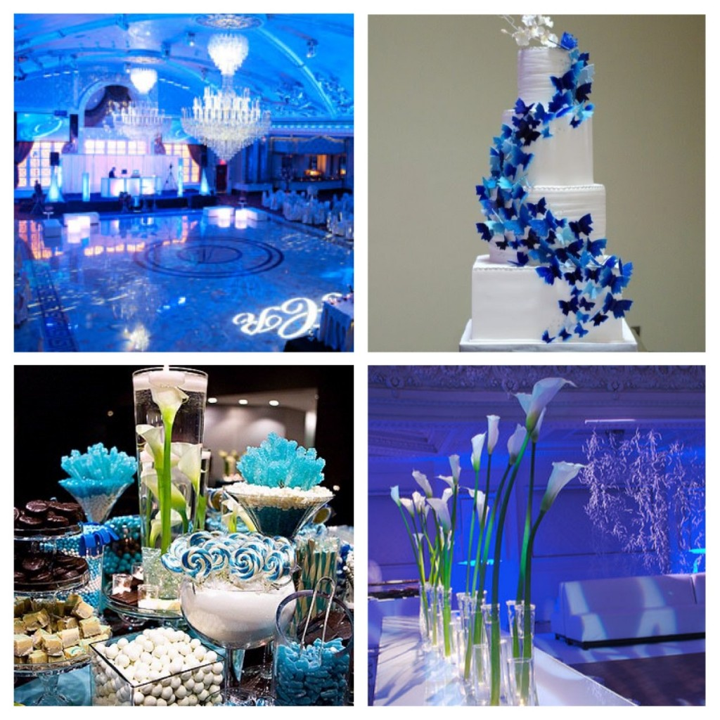 Ideas for wedding blue decoration - Decoracion unas para boda ...