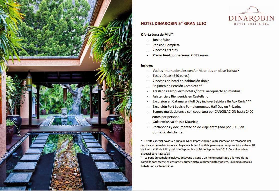 oferta luna de miel 2015 isla mauricio beachcomber islas seychelles