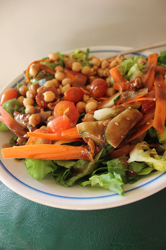 Pacific-Inspired Salad with Peanut Dressing