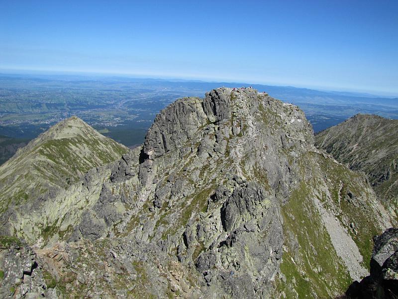 Panorama z Pośredniego Granata na Skrajny Granat (2225 m n.p.m.).