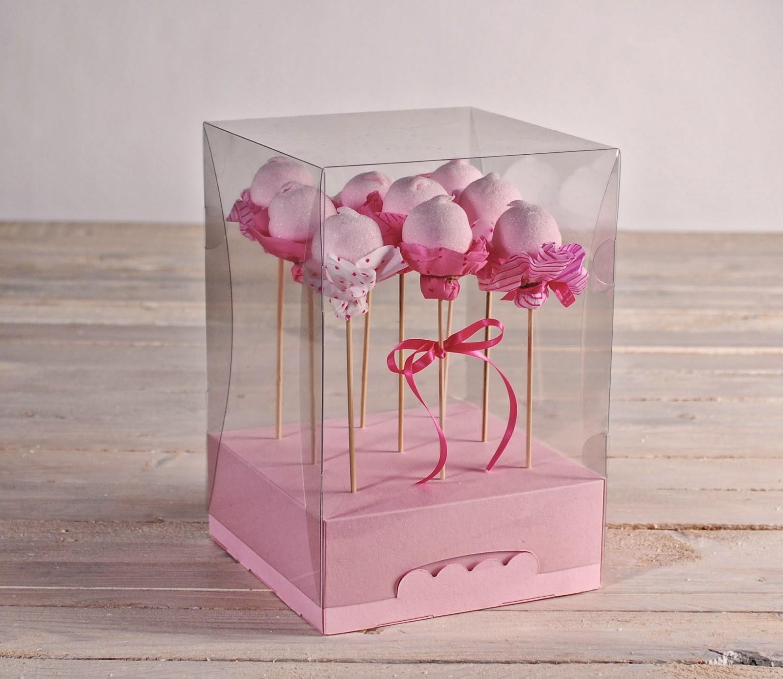 cajas transparentes, cajas repostería, cajas para cake pops, cajas cake pops, cajas originales