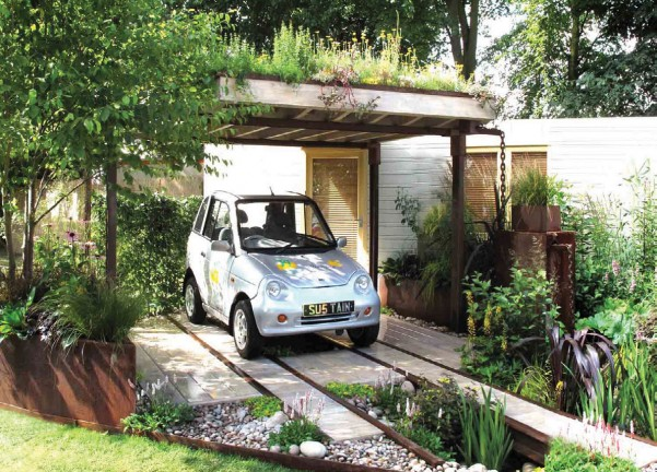With Green Roof Carport : Paradis express wendy allen design