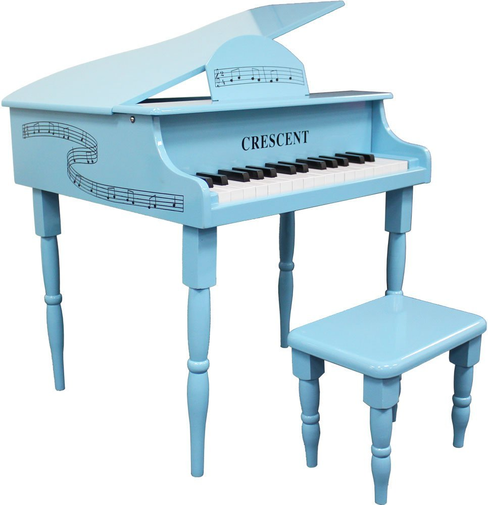 Adding Color Fun To Your Space Baby Blue 30 Keys Grand Toy Piano