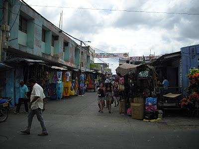A typical scene from the many markets in downtown Maicao - busy and dirty, it has a very 'eastern' feel to it.