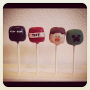 Minecraft cake pops order for the last day of school.
