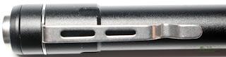 Nitecore 2xAAA Flashlight / Penlight - Clip Closeup 1