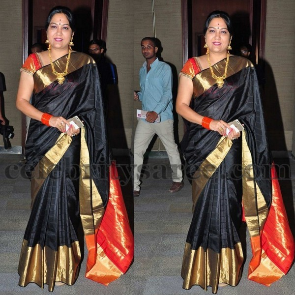 Hema Black Silk Saree