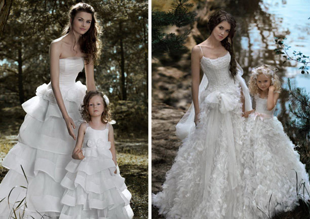 Bride and flower girl matching dresses have your dream for Matching wedding and flower girl dresses
