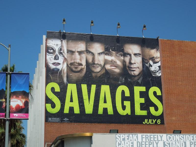 Savages movie billboard