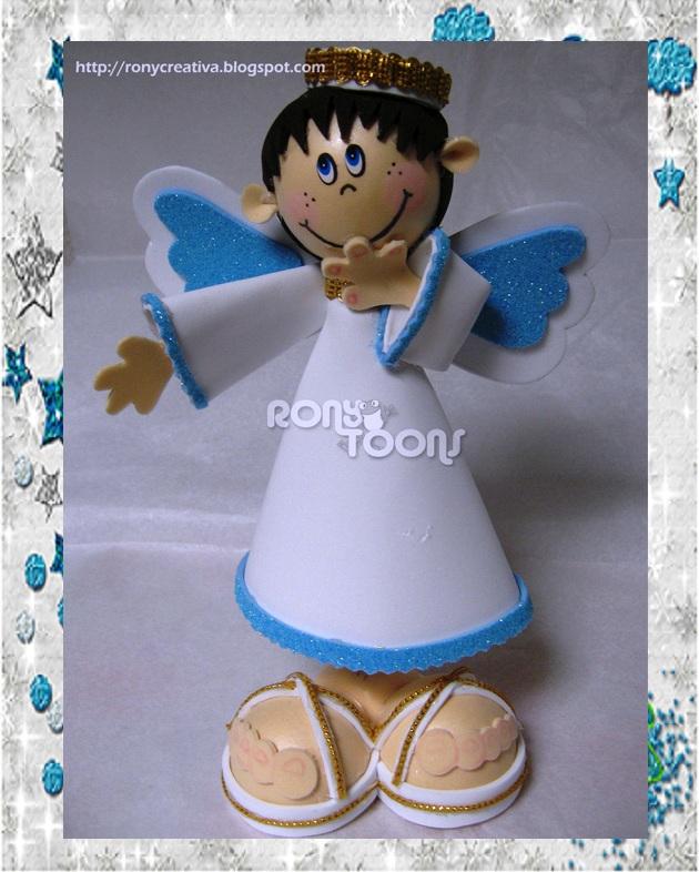 ronycreativa: ANGELITOS DE FOMI