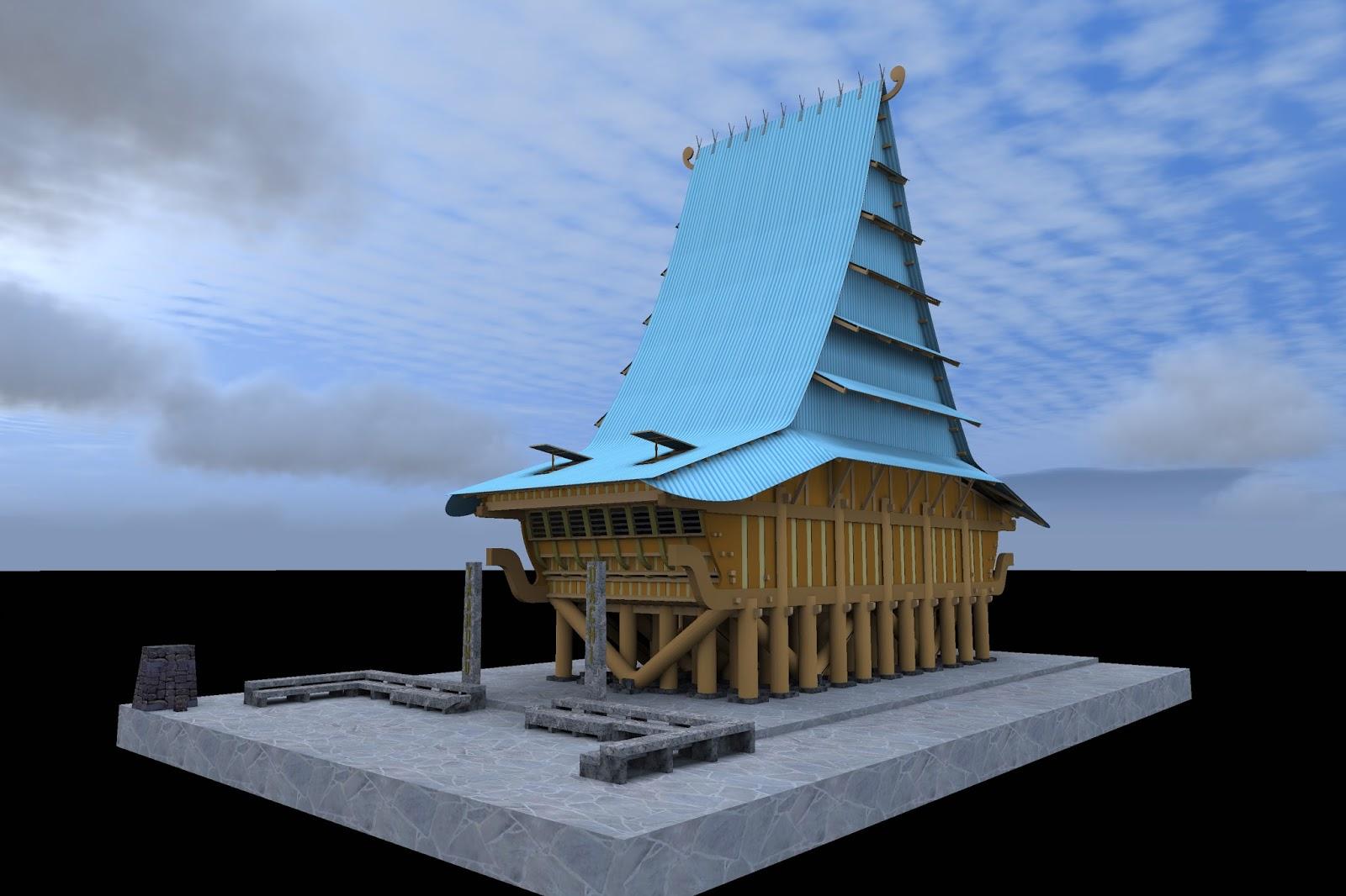 Desain Rumah Adat Nias