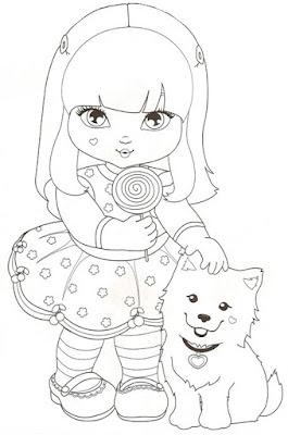 imagens para colorir jolie - Imagens das bonecas Jolie Desenhos para Colorir