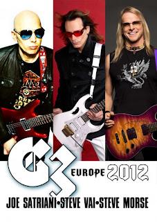 G3 Joe Satriani Steve Vai e Steve Morse