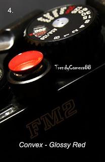 Convex Red Soft release shutter button Fuji X100 X10 Leica M3 M6 M9 Rollei Nikon