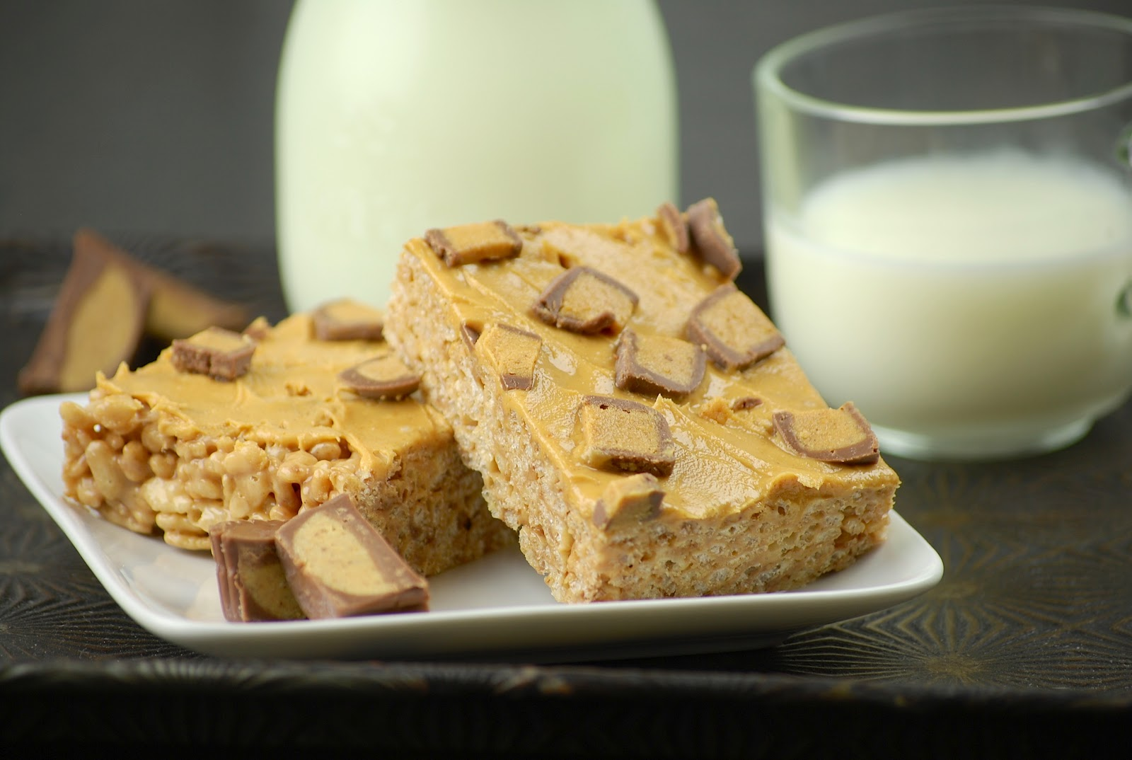 Tasty Trials: Peanut Butter Cup Rice Krispie Treats and memories of ...
