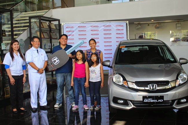 Family man wins an All-New Honda Mobilio