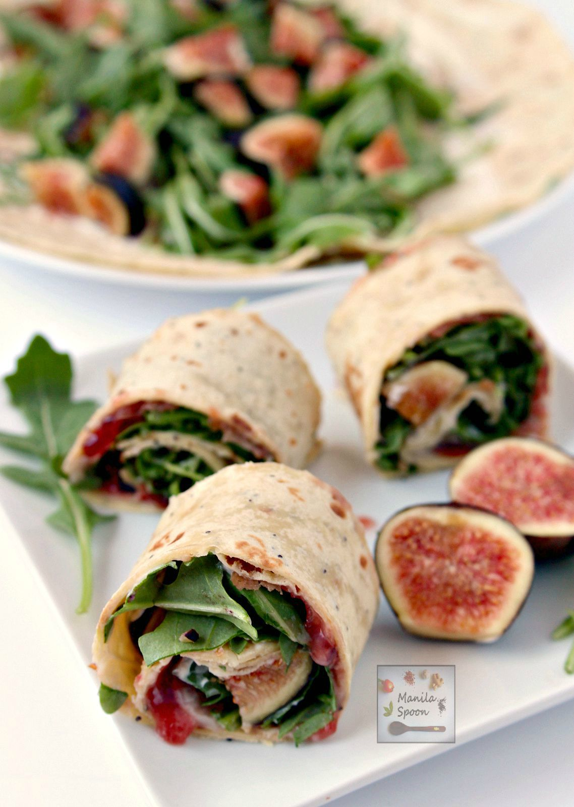 Fig, prosciutto, arugula and creamy mascarpone all join in to create a ...