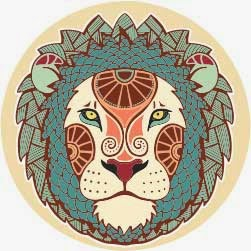 Logo zodiak bintang leo