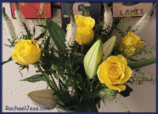 Buttercup valentine's day bouquet