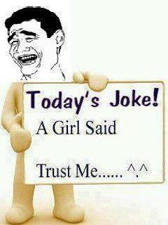 Today's Joke ~ by a girl