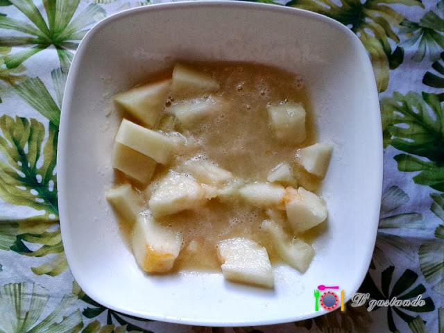 Troceamos el melón y trituramos