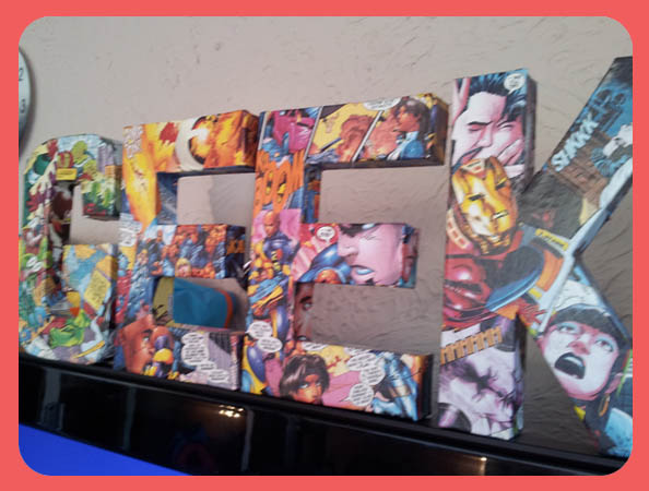 Craft: Making Comic Book Art Letters