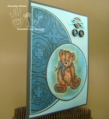 Picture of the front of the card set at a right angle