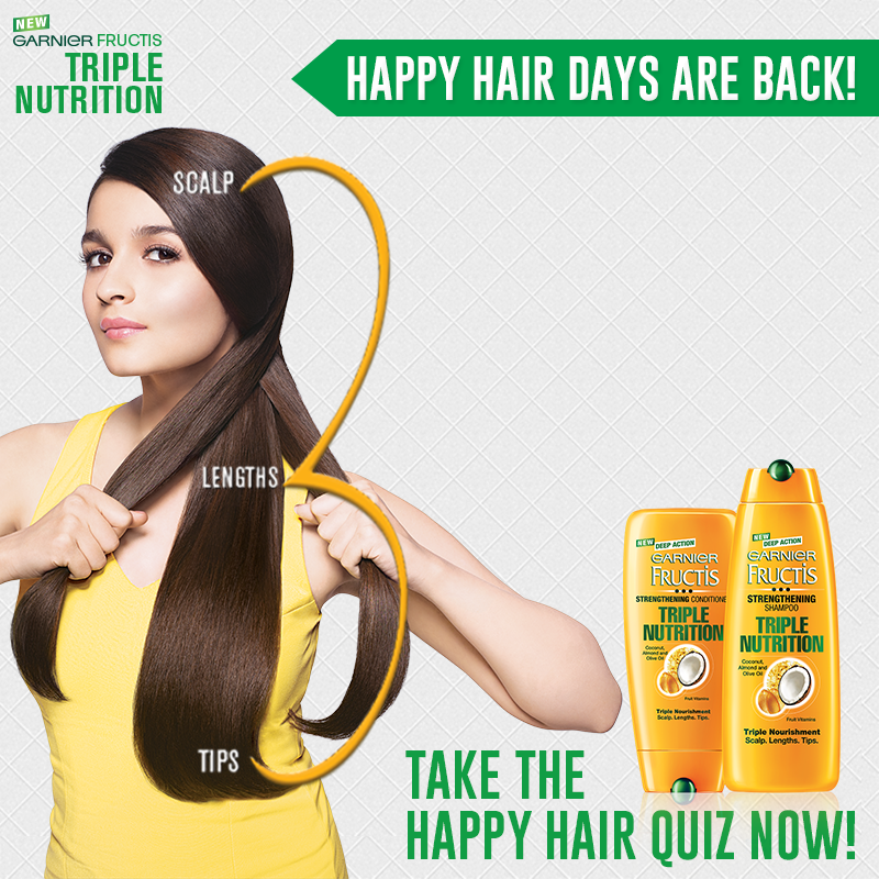Garnier Fructis Triple Nutrition - Happy Hair Challenge