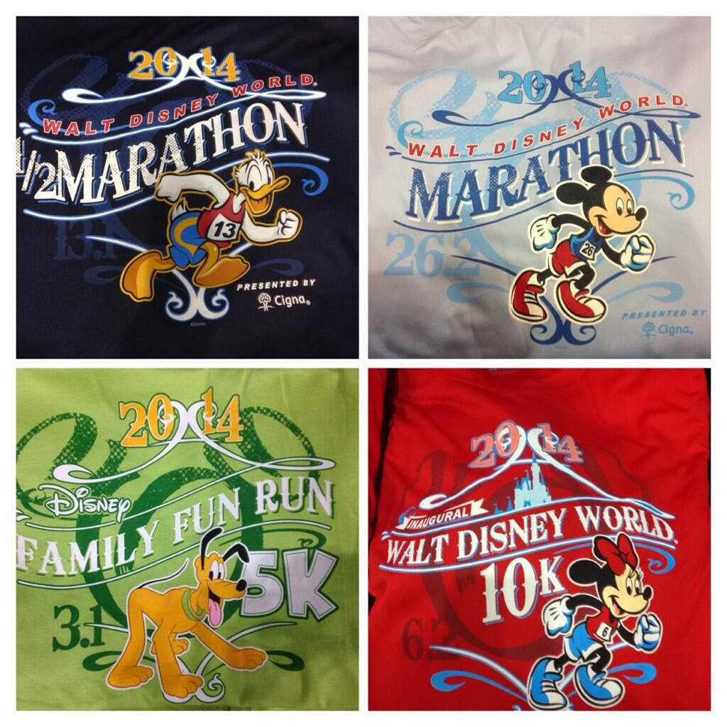 WDW Marathon Weekend Shirts