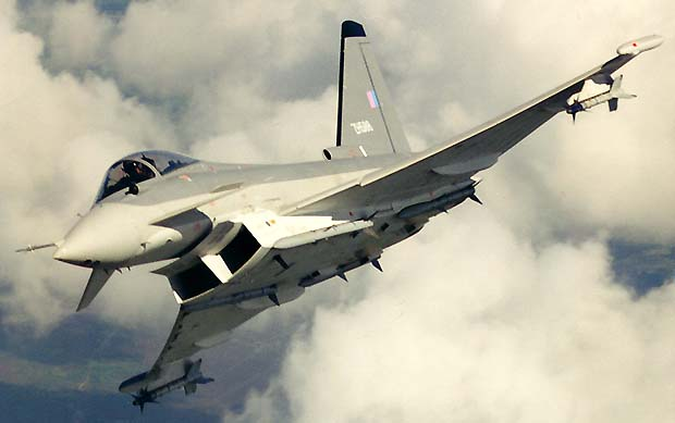 Eurofighter Typhoon Strike Fighter Aircraft