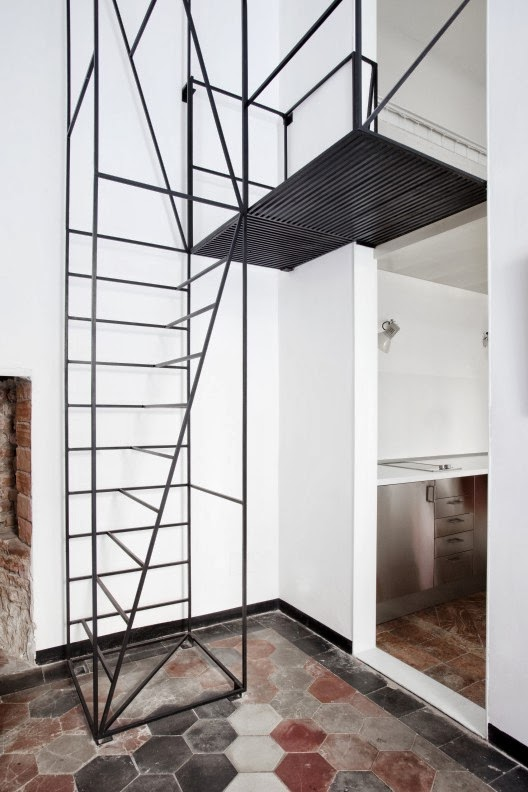stairs design in house C in Milan